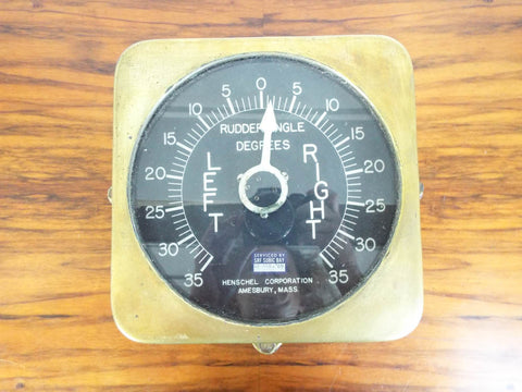 Antique Nautical Battle Ships Rudder Angle Indicator ~ Henschel Corp