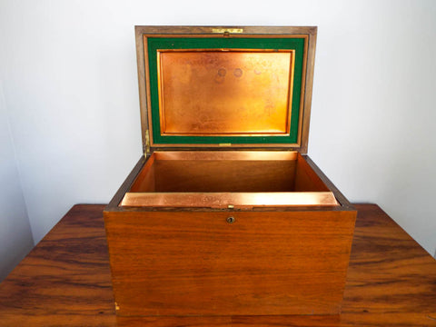Vintage Art Deco Alfred Dunhill Humidor London Wooden Cigar Box Holder