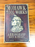Antique Mohawk Tool Works Heavy Bronze Advertising Wall Plaque American Indian