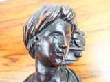 Antique Carved Wooden Harvest Female Sculpture