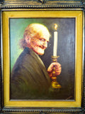 Original Signed Hector Moncayo Portrait Painting