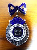 Antique Silver Religious Band of Hope Enamel Medal