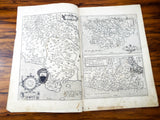 Antique 16th C Map Of Marca Ancona Corsica by Abraham Ortelius