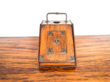 Antique Arts and Crafts Desk Inkwell Letter Rack Box