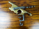Antique American 19thC Brass Bar Corkscrew ~ The Acme