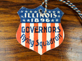 Antique 1896 Political USA Shield Illinois Governor John R Tanner Flying Squad
