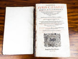 1645 Lexicon Luridicum Leather Latin Law Dictionary ~ Samuel Chouet