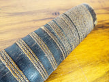 Antique 19th C Burmese Sword Widening Blade Dha With Scabbard