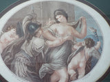 Antique Regency  Classical Print ~ Prudence and Beauty
