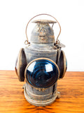 Antique Hand Lan Kerosene Railway Lamp St Louis 4 Way Light ~ Electrified
