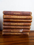 Antique Knickerbocker Miniature William Shakespeare Set 21 Leather Bound Books
