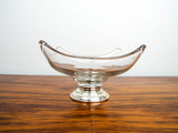 Vintage Art Glass Bowl with Sterling Silver Base