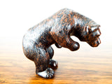 Antique Jasper Bear Carvings Stone Playful Animals Grizzly Brown Bears Asian