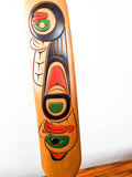 Vintage Coast Salish Wood Carving Eagle Paddle by William Watts