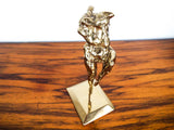 Vintage Abstract Art Mid Century Ballerina Sculpture Brass Dancer Statue Dancing