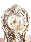 Antique Art Nouveau Brass Mantel Clock