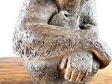Vintage Clay Sculpture of Chimpanzee Mother & Child by Eda Martinek Henry