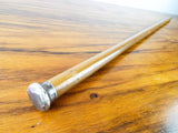 Antique 1910s Art Nouveau Walking Stick Cane with Silver Top