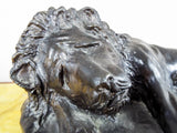 Vintage Bronze Lion Sculpture by John Hontas ~ 1/24