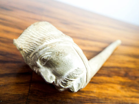 Antique 19th C White Clay Smoking Pipe