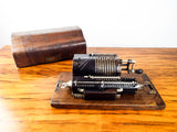 Antique 1920s Lipsia 3 Mechanical Pin Wheel Calculator