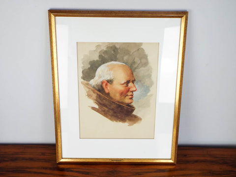1903 Signed Watercolor Portrait Painting ~ Paul E Harney