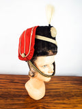 Antique Victorian British Busby Curassier Military Hat Size 22 19th C Hussars