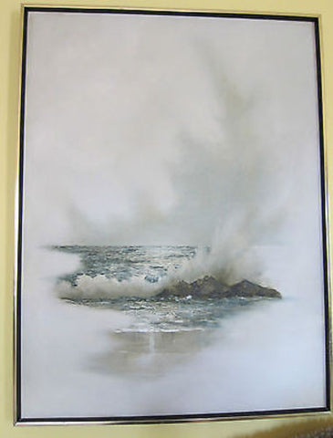 Large Ocean Oil Paintings by California Artist Doris Gilbert - Yesteryear Essentials  - 1