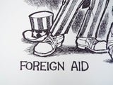 Vintage Signed Ron Cobb Print Ltd Ed Underground Free Press Cartoon Foreign Aid