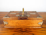 Antique German Wooden Oak Cigarette Cigar Humidor