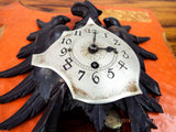 Antique 19th C Imperial German Hohenzollern Clock Wooden Eagle Black Forest