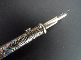 Antique British Sterling Silver Articulated Pen