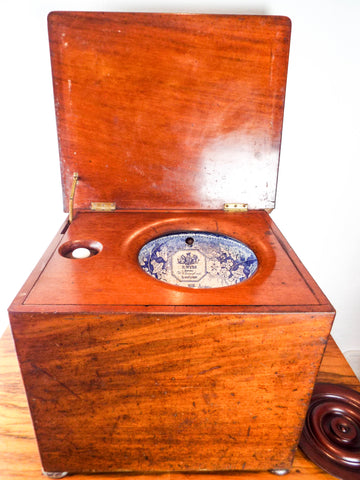 Antique 19th C British Victorian Water Closet Toilet
