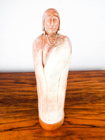 Vintage Zuni Soapstone Mother & Child Sculpture ~ Keith Paywa