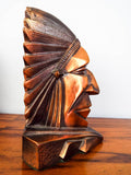 Art Deco Style Indian Chief Geometric Bookends