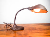 Vintage 1930s Art Deco Faries Adjustable Office Desk Lamp Goose Neck Table Light
