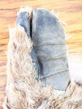 WW2 USAF B-17 Bomber Machine Gunner Mittens Wolf Fur Trigger Finger Gloves 1940s
