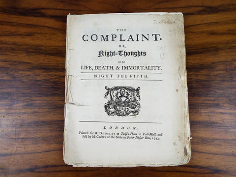 Antique 18th C Play Script ~ The Complaint London 1743
