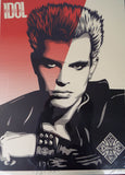 Original Signed Fairey Shepard Billy Idol Poster ~ Obey Records ~ 261/400