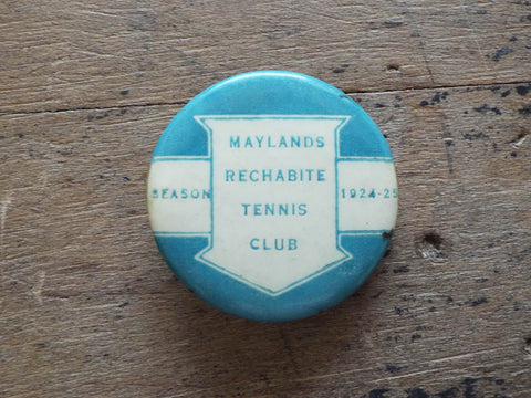 Antique 1924 Religious Maryland Rechabites Tennis Club Pin