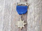1920s Antique Religious Gospel Temperance Star Enamel Medal