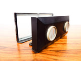 Antique Folding Stereoscope French Slide Viewer & 7 Glass 3D Slides Unis France