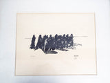 Vintage Signed Black and White Limited Edition Print Jacques Ochs Holocaust Art