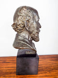 Vintage 1930s French Signed Bronze Bust Sculpture ~ Caroline Lloyd