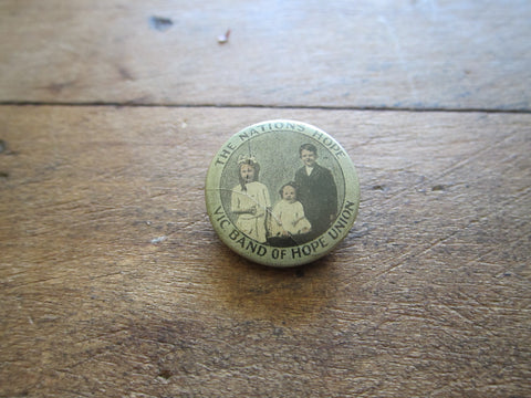 Antique Australian VIC Band of Hope Pinback Button