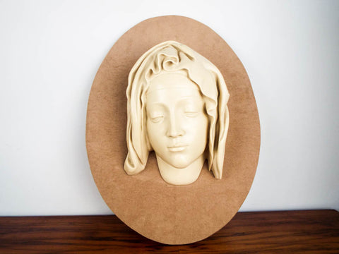 Vintage Religious Virgin Mary Wall Sculpture