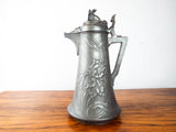 Antique Jugenstil Art Nouveau Kayserzinn Wine Ewer Water Jug Pewter 1900 1910