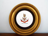 Antique British Porcelain Plate ~ The Kings 14th Hussars