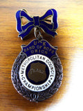 Antique English Religious Band of Hope Enamel Bronze Medal