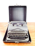 Vintage L C Smith & Corona Standard Floating Shift Typewriter Leather Case 1940s